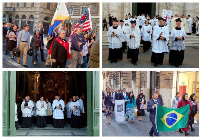 Postcard International Summorum Pontificum Pilgrimage 2013