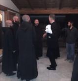 Abp. Sample's arrival in Norcia. Oct. 26, before the first tremor.